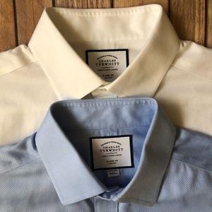 2 Charles Tyrwhitt Classic Dress Shirts 16.5 35